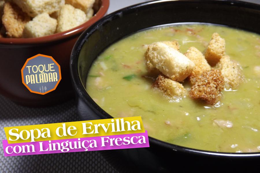 Sopa de Ervilha com Linguiça Fresca